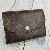 BRAND楓月 LOUIS VUITTON LV M41939 原花 粉紅 ROSALIE 零錢包 短夾 小包 卡包