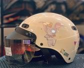 卡通安全帽,CA110,小飛象/復古白,附抗UV-PC安全鏡片