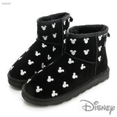 Disney 童趣生活~俏皮 短筒雪靴-黑