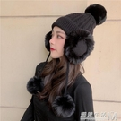 帽子女秋冬加絨針織護耳帽日系百搭可愛毛球毛線帽韓版保暖雷鋒帽 遇見生活