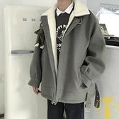 棉服男寬鬆羊羔毛外套棉衣冬季加厚加絨【雲木雜貨】