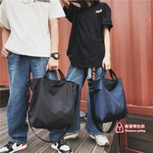 尼龍手提包 新款韓版斜背包大容量短途旅行尼龍單肩包手提包休閒百搭學生書包 3色