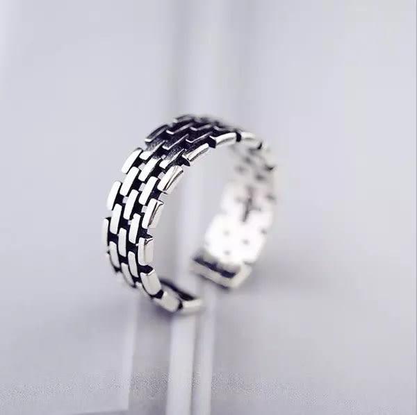 Qmigirl 韓版復古編織鏈條寬面戒指【QG1921】