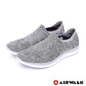 【AIRWALK】流線力學編織襪感休閒鞋-男款-灰