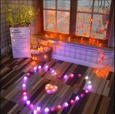 電子蠟燭浪漫創意玫瑰花愛心形錶白求愛求婚道具LED燈蠟燭生日燈 快速出貨全館免運
