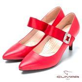 ★2018春夏新品★【CUMAR】搶眼鑽飾 瑪莉珍高跟鞋(紅色)