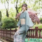 和服 山鳥和色日式和風浴衣改良和服攝影道具旅拍寫真現貨 裹葉色飛鶴 麗人印象 免運