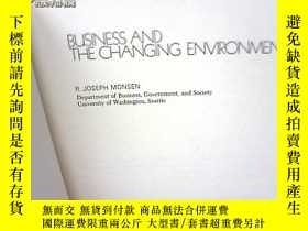 二手書博民逛書店BUSINESS罕見AND THE CHANGING ENVIR