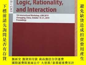 二手書博民逛書店LOGIC罕見RATIONALITY AND INTERACTIONY14530 SPRINGER 出版2