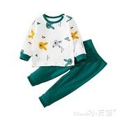 兒童睡衣 寶寶家居服套裝純棉春秋季嬰兒長袖兒童睡衣套裝男童女童3歲可愛6 小天使 99免運