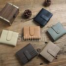 【Solomon 原創設計皮件】質感輕巧 扣式多卡位收納短夾 簡約沉穩色系