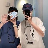 roora情侶裝夏裝2021新款小眾設計感短袖t恤衫夏天男學生上衣法式 【夏日新品】