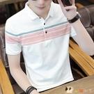 2020夏季短袖t恤男士韓版潮牌丅半袖體桖翻領polo衫上衣服男裝