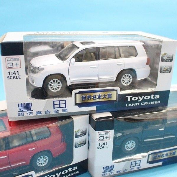 TOYOTA 豐田 LAND CRUISER 合金車(2號白盒)/一台入{促199} 1:41 模型車 迴力車 生TOP401