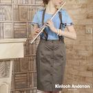 【Kinloch Anderson金安德森女裝】吊帶窄裙裙連身洋裝(貼袋 連身 洋裝 長版 吊帶裙)