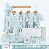 純棉嬰兒衣服新生兒禮盒女寶寶套裝春秋夏初生剛出生滿月禮物用品 QQ22013『優童屋』