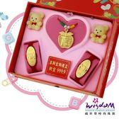 999.9黃金彌月音樂禮盒平安幸福三件組2分-GP00021-18-FEX
