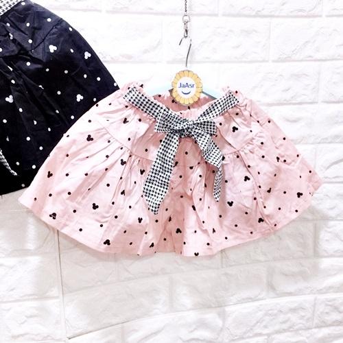 ☆棒棒糖童裝☆(E5377)夏女童鬆緊腰腰間綁帶滿版點點平織褲裙 110-160
