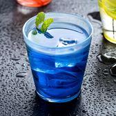 玻璃杯 家用彩色水晶玻璃水杯水墨創意個性水杯果汁飲料杯子 AW1492【棉花糖伊人】