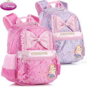 正版迪士尼公主系列可愛蝴蝶結幼兒園書包後 背包-金髮公主