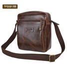 【TROOP】頂級造皮FAUX LEATHER單肩包/TLL009DB(深棕色)