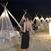 連身裙 洋裝女夏海邊度假裙子小個子露背顯瘦超仙泰國普吉島吊帶沙灘裙 韓語空間