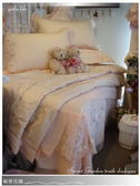法式典藏.浪漫婚紗系列『秘密花園』膚色*╮☆六件式專櫃高級精梳棉床罩組(5*6.2尺)