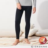 【GIORDANO】 男裝Beau-warmer plus+彈力舒適極暖褲-08 標誌黑