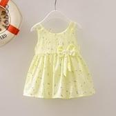 女寶寶洋裝嬰兒裙子夏裝0-1-2-3歲女童連身裙夏季無袖背心裙薄款清涼LXY7231[黑色妹妹]