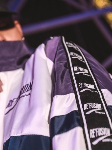風衣 串標潮流迷你風衣男歐美街頭嘻哈拼色夾克秋季情侶原宿風運動外套