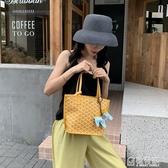 包包女包新款韓國狗牙包菜籃子托特包側背大容量手提包女小包 極有家