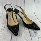 BRAND楓月 JIMMY CHOO 黑色 亮片 尖頭 高跟鞋 尺碼37 尖頭鞋 女鞋 鞋子 氣質 造型
