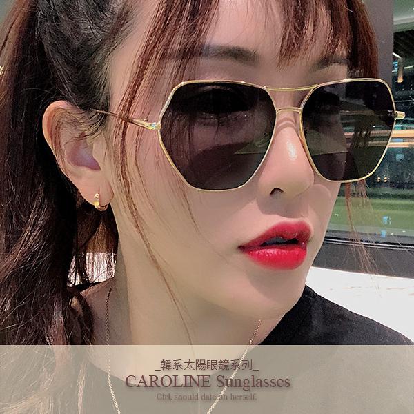 《Caroline》年度最新網紅款潮流百搭抗UV時尚太陽眼鏡 72128