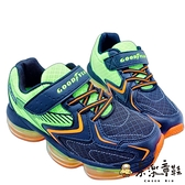 【樂樂童鞋】GOODYEAR 童款大氣墊緩震運動-黑綠 G017-1 - 男童鞋 運動鞋 球鞋 布鞋 大童鞋 固特異
