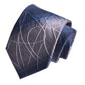 黑色領帶8CM藍色條紋男領帶結婚紫色刺繡花紋