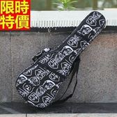烏克麗麗琴包配件-23吋爆走漫畫圖案加厚帆布手提保護琴套69y14【時尚巴黎】