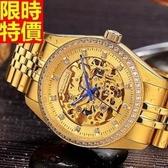 機械錶-陀飛輪鏤空自動精美鑲鑽精鋼男手錶2款66ab32[時尚巴黎]