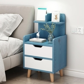 床頭櫃 床頭柜置物架北歐風ins臥室床邊收納柜簡約現代簡易迷你小型柜子【快速出貨八折下殺】