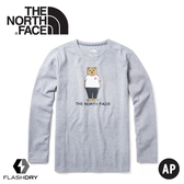 【The North Face 男 FlashDry快乾長袖T恤《中灰》】3VU2/長袖T/長袖上衣/圓領上衣