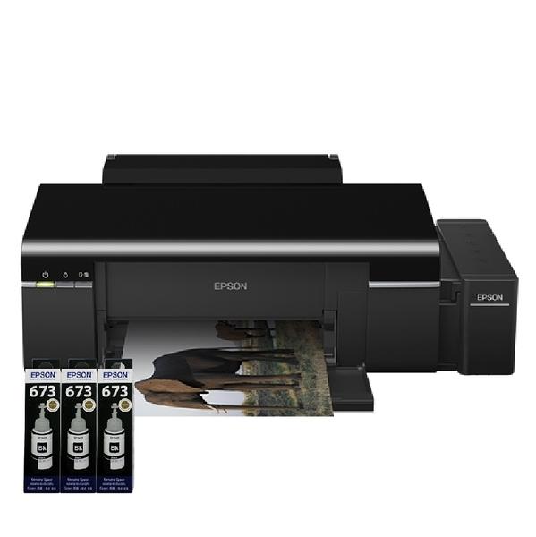 【送T6731原廠墨水三瓶】EPSON L805 六色CD無線原廠商用連續供墨印表機