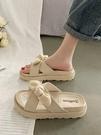 厚底鞋 網紅涼拖鞋女仙女風夏外穿ins潮2021新款時尚外出鬆糕厚底沙灘鞋  美物 618狂歡