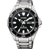 CITIZEN 星辰 PROMASTER 限量鈦200米潛水機械錶-黑x銀/43.5mm NY0070-83E