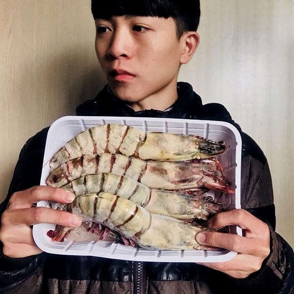 ㊣盅龐水產◇海草蝦5P(1kg)◇重量1kg±10%/盒◇零$1500/盒◇一盒5隻大草蝦 聚餐首選 歡迎團購批發