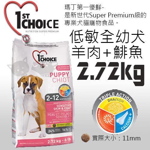 [寵樂子]《瑪丁-第一優鮮》全犬種幼犬羊肉+鯡魚+糙米配方-2.72KG