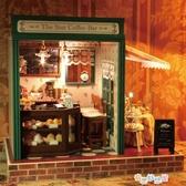 智趣屋小屋咖啡吧建築房子手工小屋手工拼裝模型浪漫生日禮物 奇思妙想屋