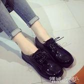 女僕鞋 圓頭娃娃鞋復古皮鞋學院風文藝制服鞋女仆鞋 傾城小鋪
