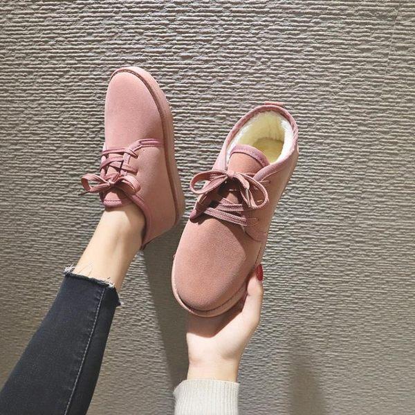 2018新款秋冬季雪地靴棉鞋女短筒懶人平底短靴加絨面包鞋網紅女鞋『新佰數位屋』
