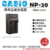 御彩數位@樂華 CASIO NP-20 快速充電器 壁充式座充 1年保固 EX-Z4 EX-Z5 EX-Z60 EX-Z5