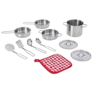 Teamson 11件不銹鋼鍋具組 廚具組