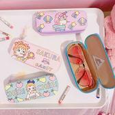 眼鏡盒正韓創意小清新可愛卡通印花pu皮革軟妹便攜學生眼鏡眼鏡盒收納盒(萬聖節)